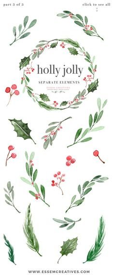 "Watercolor Christmas Wreath Clipart, Christmas Card Templates, 5x7 A4 digital borders & frames, Watercolor Holly Jolly Clipart, Christmas Wreath Graphics, Christmas Card Templates, Watercolor Holiday Card Borders, 5x7 Digital Background, A4 Christmas Border, Seasons Greeting, Corporate Card Background ""Holly Jolly""is a watercolor christmas clipart set. It includes christmas holly wreaths, pre-made photo card & christmas card backgrounds & borders in 5x7 inches & A4 size, and also separate…"