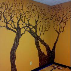 Tree mural in classroom Classroom Tree, Trees, School, Home Decor, Art, Murals, Art Background, Decoration Home, Room Decor