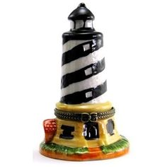 Cape Hatteras NC Lighthouse Hinged Trinket Box phb