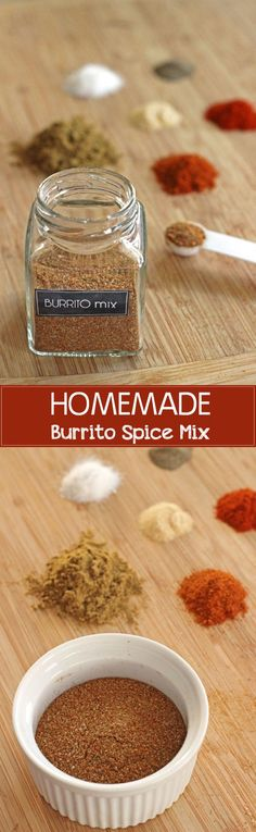Quick & easy burrito spice mix made with things you have in your pantry!