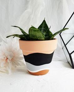 Flower Pot Art, Flower Pot Design, Painted Plant Pots, Painted Flower Pots, Decorated Flower Pots, Pots D'argile, Clay Pots, Pottery Painting Designs, Pot Jardin