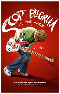 An epically epic Scott Pilgrim vs The World movie poster! That sweet Rickenbacker bass is nearly as big as Michael Cera! Ships fast. 11x17 inches. Need Poster Mounts..?