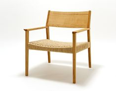 Easy Chair in oak with paper chord seat, Narrative (ナラティヴ). Graf.