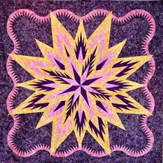 Feathered Star Queen, Quiltworx.com, Made by James Hickey.