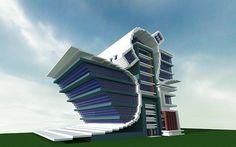 Modern/Futurist City Building Minecraft Project