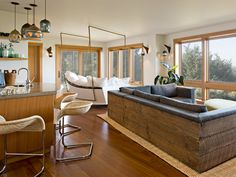 Oregon Coast House – Jessica Helgerson Interior Design WOW boat swing bed couch n other couch