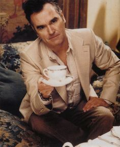 Tea time with Morrissey.