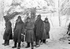 Red Army prisoners, captured by the Fins, near Lemetti, Feb 2, 1940. After the Russo-Finnish War, the Fins gravitated toward Nazi Germany hoping to see the USSR decisively defeated. In the end, it all fell through and Finland found herself in an uneasy coexistence with the USSR until the latter's collapse in 1989-90.