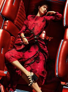 Vanessa Moody by Mario Testino for Michael Kors S/S 2016 | The Fashionography | Discover more fiery fashion on www.primpymag.com/ | #fire #energetic #bold #primpytips #primpystyle