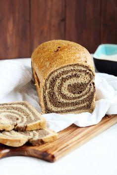Marbled Rye Bread - Delicious swirled bread perfect for deli sandwiches. Picture tutorial.