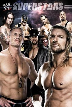 WWE... I love this one!!! It has Shawn Michaels in the background... WooHoo!!!