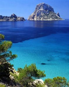 You can swim to this sacred rock. Es Vedra. Ibiza, Islas Baleares. España. Spain