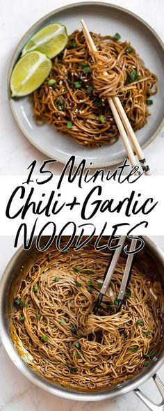 Spicy chili garlic noodles.