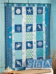 ~ Sandbox Quilt Pattern This could work for the fabric I got you. Ocean Quilt, Beach Quilt, Lap Quilts, Panel Quilts, Crib Quilts, Quilting Projects, Quilting Designs, Quilting Ideas, Fat Quarters