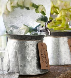 cucumber water @weddingchicks