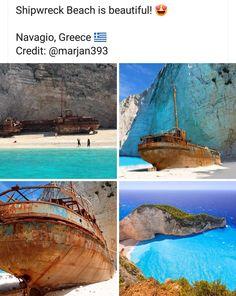 Shipwreck, Travel Around, Greece, Beach, Outdoor Decor, Beautiful, Greece Country, The Beach, Beaches
