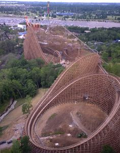 Son of Beast - King's Island near Cincinnati, Ohio.  This roller coaster will leave bruises on you.  Just saying.  Closed indefinitely  June 2009