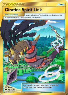 This is Giratina Spirit Link. I can make you a physical card of this Spirit Link Dragon Type Pokemon, My Pokemon, Pokemon Cards Legendary, Pokémon Cards, Your Turn, Spirit, How To Get, Feelings, Link