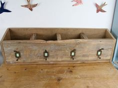 Hey, I found this really awesome Etsy listing at https://www.etsy.com/listing/205832297/wooden-wall-box-unit-with-four-hooks