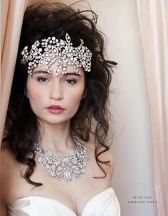 Malis Henderson headpiece and necklace