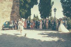 Protestant wedding ceremony in Tuscany