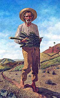 El Pan Nuestro de Ramon Frade Farmer Painting, Painting Art, Paintings, Latino Artists, Vintage Illustration Art, Art Illustrations, Puerto Rico History, Puerto Rican Culture, Cuban Art