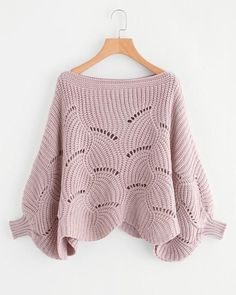 Pullover Free Pattern- will need to devise a knitting pattern for this as the crochet chart is in Russian Mode Crochet, Crochet Top, Crochet Chart, Loose Sweater, Pink Sweater, Knitting Designs, Crochet Clothes, Pulls, Types Of Sleeves