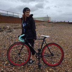 """First long ride of the year.. Felt good! #fixedgear #fixie #quellabikes"""