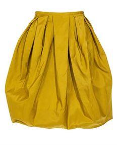 JASON WU Sculpted silk skirt