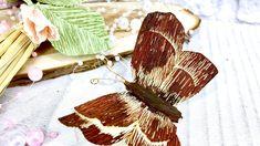 Мастер класс бабочки для мужского букета/ бабочка из гофрированной бумаг...