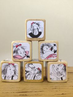 Eloise Blocks // Childrens Book Blocks // Natural Wood Toy on Etsy, $22.00