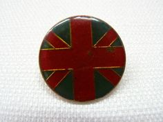 Vintage Early 1980s British / Union Jack Flag Enamel Pin / Button / Badge by beatbopboom on Etsy