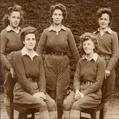 land girls-Over sixty years ago, girls were still needed on the land; the war was over, but thousands of young men never returned home, so girls were still joining the Land Army. The uniform consisted of brown breeches, green jersey, pale brown aertex shirt and fawn overcoat. You wore your hat at a jaunty angle, more often than not at the back of your head. Along with hob-nailed boots, we had brown shoes, which we polished until they glowed.