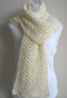 How to Crochet a Dressy Eyelash Scarf in 6 Steps