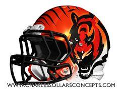 bengals 14   Flickr - Photo Sharing! Football Helmet Design, College Football Helmets, Sports Helmet, Nfl Football, Football Stuff, American Football League, National Football League, 32 Nfl Teams, Sports Teams