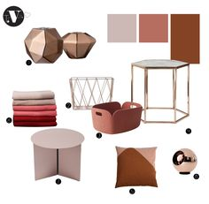 Moodboard copper, color trend 2015, home decor ideas, nordic design, scandinavian design, copper shade