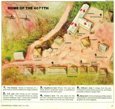 camp map of mash 4077th tv series