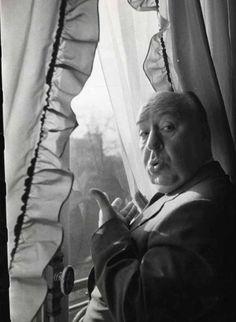 Berton (studio), Alfred Hitchcock à la fenêtre, Paris, 1955; Hitchcock at the Window, Paris.