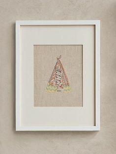 Pendleton Framed Stitched Artwork - Tepee