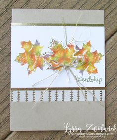Baby wipe technique tutorial fall leaves card autumn thanksgiving stampin up