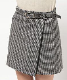 SPIGA(スピーガ)の千鳥柄ラップスカート (スカート)|詳細画像