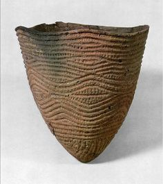 Japan - conical vessel, Jomon period (11,000-400 BC)