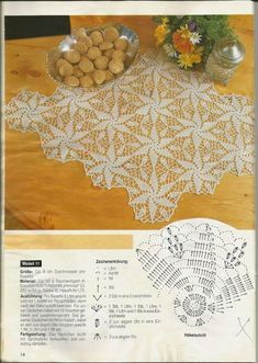 Diy Crafts - Patterns and motifs: Crocheted motif no. Crochet Shawl Diagram, Crochet Motif Patterns, Filet Crochet, Crochet Designs, Crochet Dollies, Crochet Stars, Crochet Flowers, Crochet Lace, Chicken Scratch Embroidery