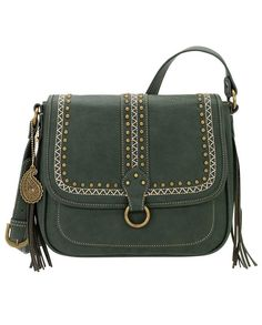 Bandana by American West Missoula Forest Green Cross-body Bag