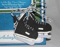 Stampin up Stocking Builder Punch Hockey Skates