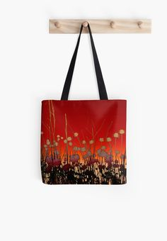 A Spook In The Thistles Tote Bag by Polka Dot Studio, a perfect Fall field of #floral thistles, original #art on #fashion #accessories. Coordinating #pouches and #apparel are available for fun trendy put it together looks. Great for #travel, #school, #office or #shopping.
