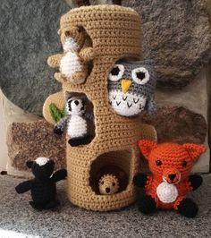 tripleacrochet:: Woodland Creatures Play Set #crochetnplaypattern #crochet #amigurumi #playset #babygift