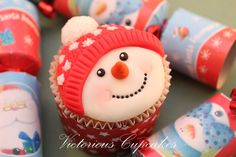 Snowman mould the Victorious way by VictoriousCupcakes