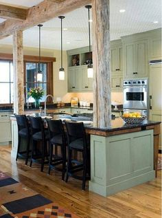 Perfect way to support that load bearing wall that you want to get rid of. Love it!
