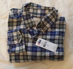 #CHAPS cotton flannel long sleeve button-down shirt plaid pattern size S visit our ebay store at  http://stores.ebay.com/esquirestore